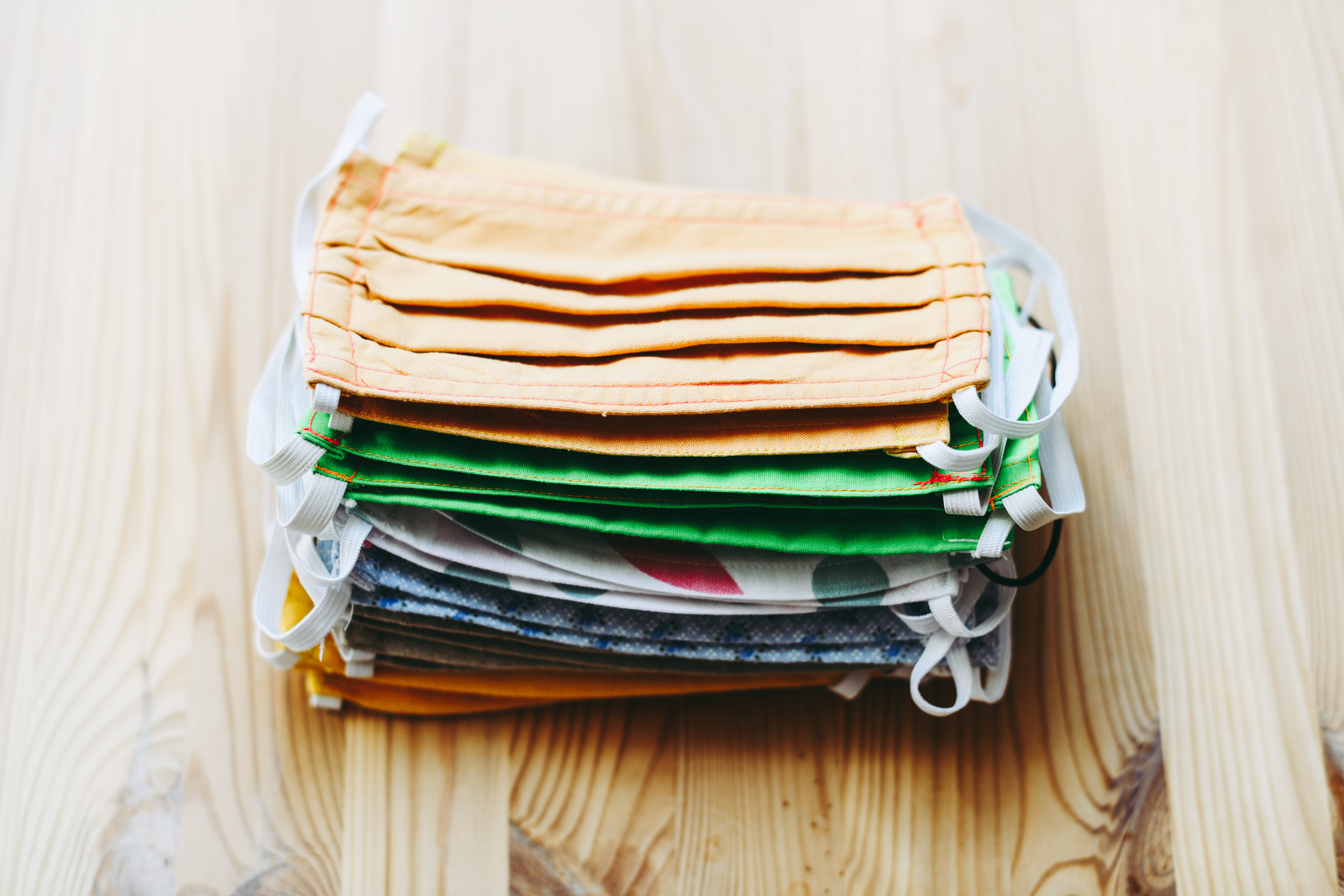 stack of fabric masks